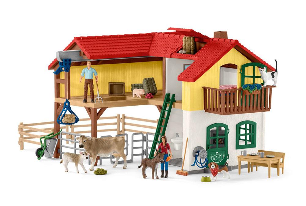 Bondegårdshus med stald og dyr - Bondegårdshus med stald og dyr