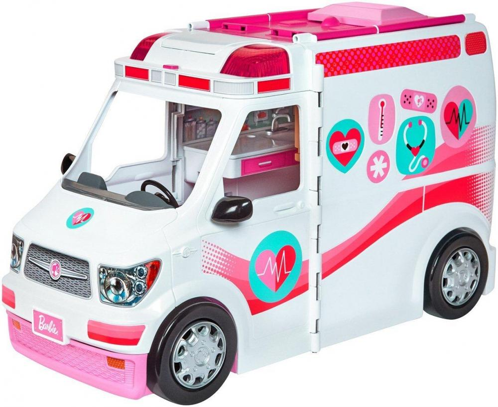 Billede af Barbie%202%20i%201%20ambulance%20klinik - Barbie%202%20i%201%20ambulance%20klinik