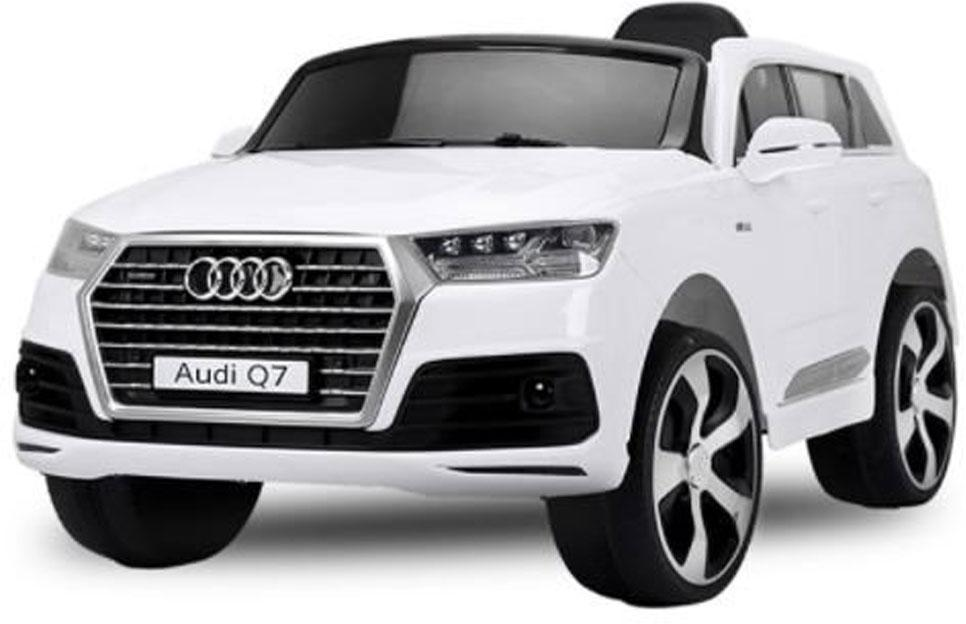 Audi Q7 Hvid, 12V, rigtige gummihjul - Audi Q7 Hvid, 12V, rigtige gummihjul