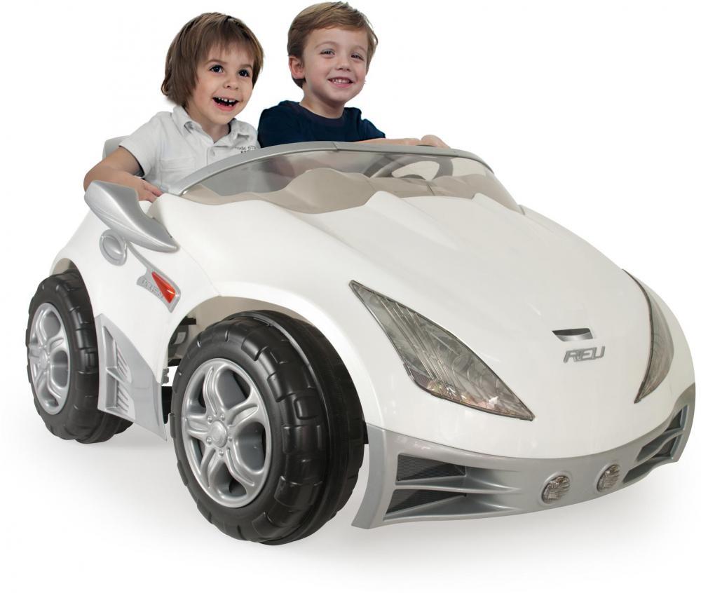 Hvid racer Elbil til børn 12V - Hvid racer Elbil til børn 12V