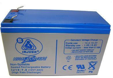 Genopladeligt batteri 12v 7,2 AH - Genopladeligt batteri 12v 7,2 AH