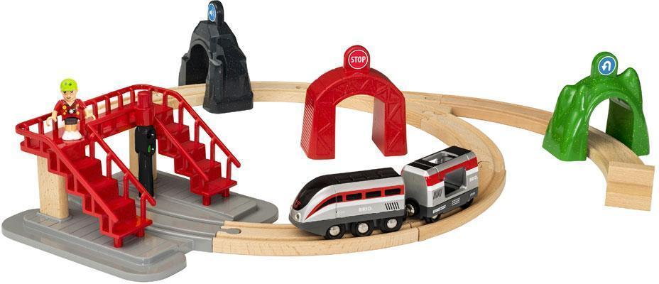 Image of Brio smart engine set with action tunnel - Brio togbane med actiontunneler 33873 (30-033873)