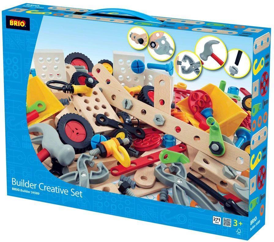 Image of Builder Creative Sæt 271 dele - Brio Trælegetøj 34589 (30-034589)