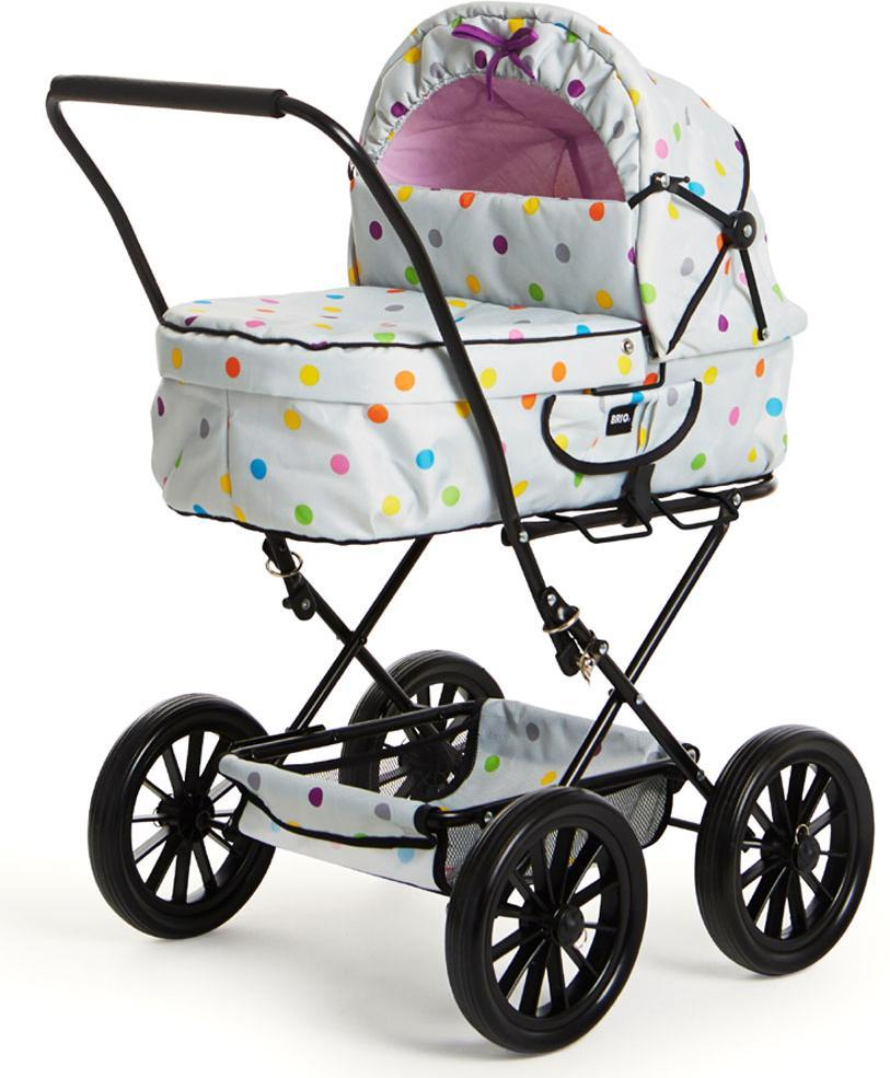 BRIO Dukkevogn, grå med flerfarv. prikke - BRIO Dukkevogn, grå med flerfarv. prikke