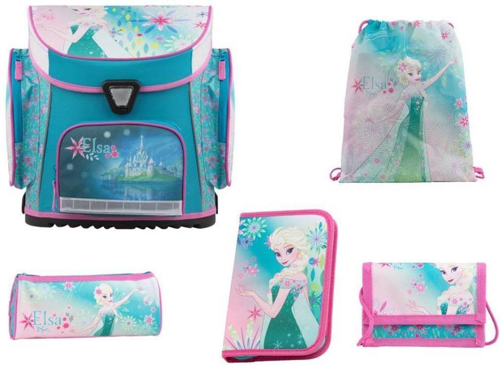 Image of Frost Skoletaske sæt 5 dele - Frozen Skoletaske Elsa 78554 (303-758554)
