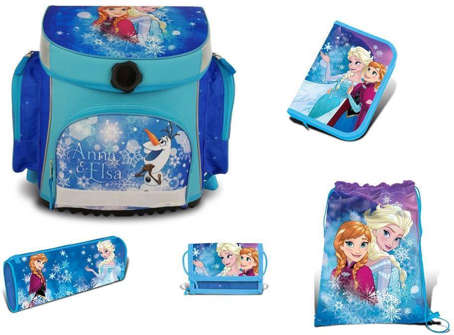 Image of Frost Skoletaske sæt 5 dele - Frost skoletaske Anna og Elsa 775650 (303-775650)
