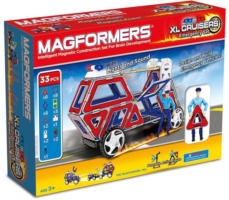 magformers – Magformers xl cruisers emergency set - magformers xl cruisers emergency set byg på eurotoys