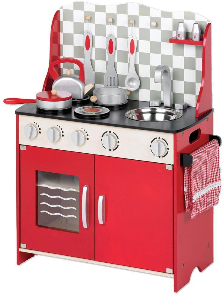 Image of Legekøkken rødt - Tidlo lege køkken T0148 (336-001489)