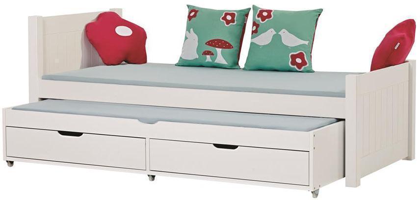 Deluxe seng m/udtræksseng 90x200 cm - Deluxe seng m/udtræksseng 90x200 cm
