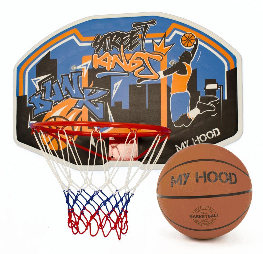 Image of My Hood Basketkurv på plade med bold - Basketball 340029 (434-340029)