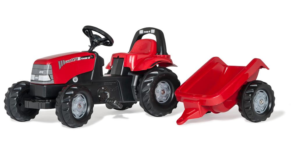 Image of RollyKid Case CVX 1170 Traktor m trailer, Rolly Toys - Rolly Toys 12411 (52-012411)