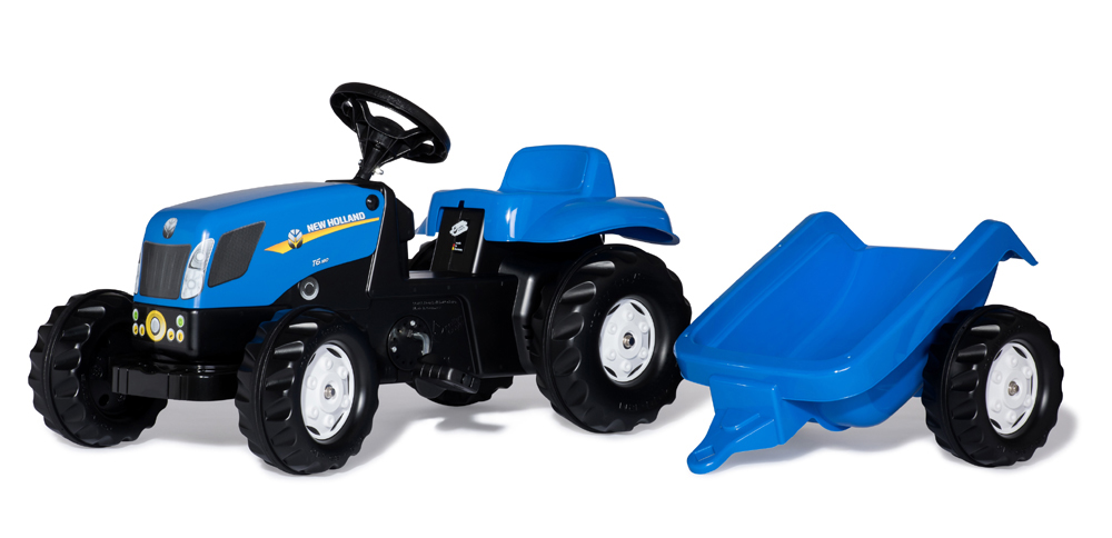 Image of RollyKid Traktor NH T7040 med trailer, Rolly Toys - Rolly toys New Holland 13074 (52-013074)