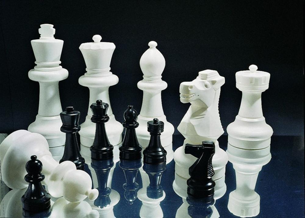 Image of Rolly Store Skak brikker og spillefelter - Rolly Toys haveskak 218707+218752 (52-218707X)