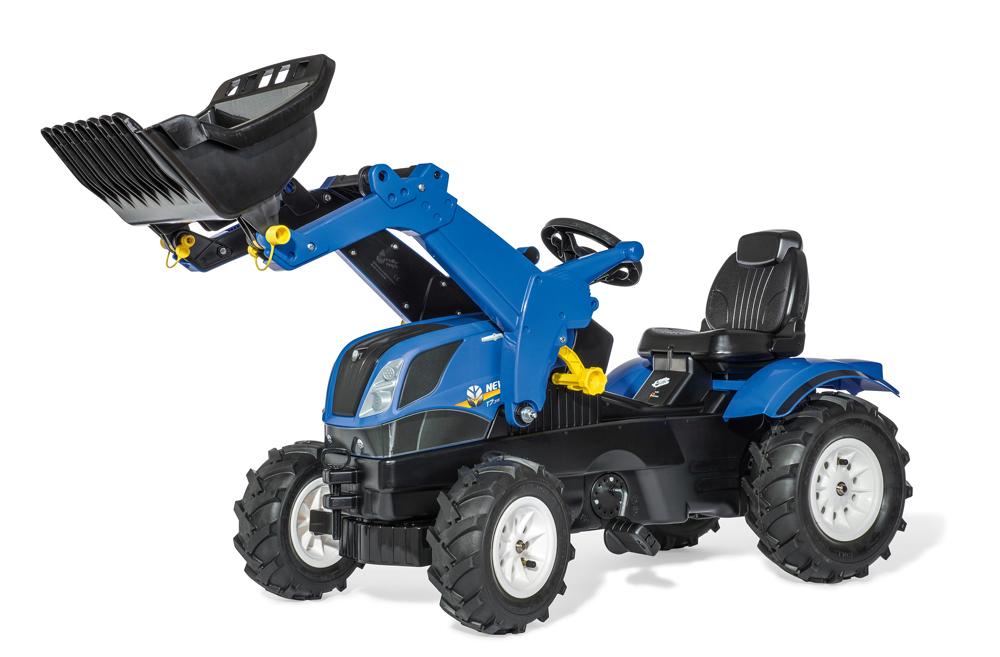 Image of Rollyfarmtrac New Holland - Rolly Toys pedaltraktor 611270 (52-611270)