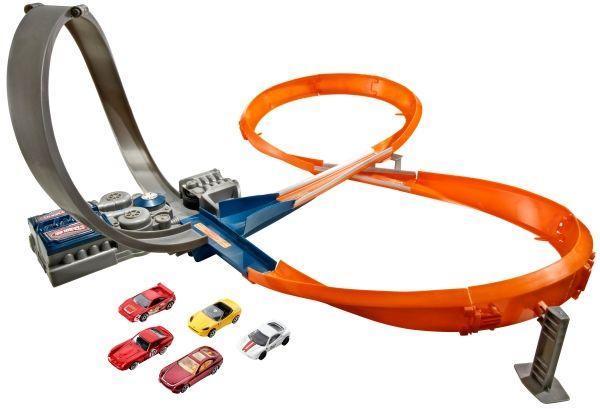 Image of Hot Wheels Raceway bane med 5 biler - HW Aktion racer bilbaner til børn BHP99 (54-0BHP99)