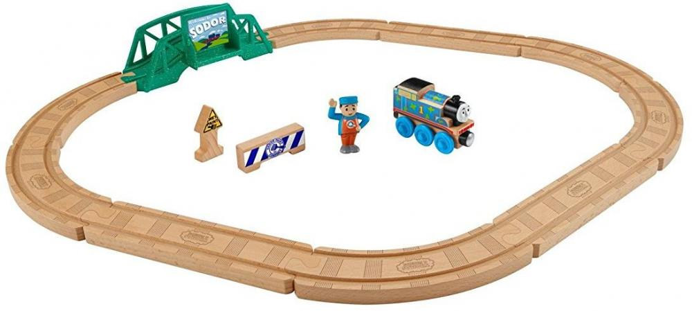 Image of Thomas Tog træ 5 i 1 bygge sæt - Thomas Tog Wooden Railway FHM64 (65-0FHM64)