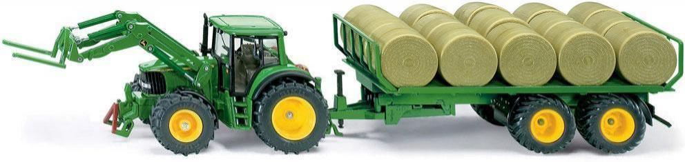 John deere traktor med halmballe trailer - John deere traktor med halmballe trailer