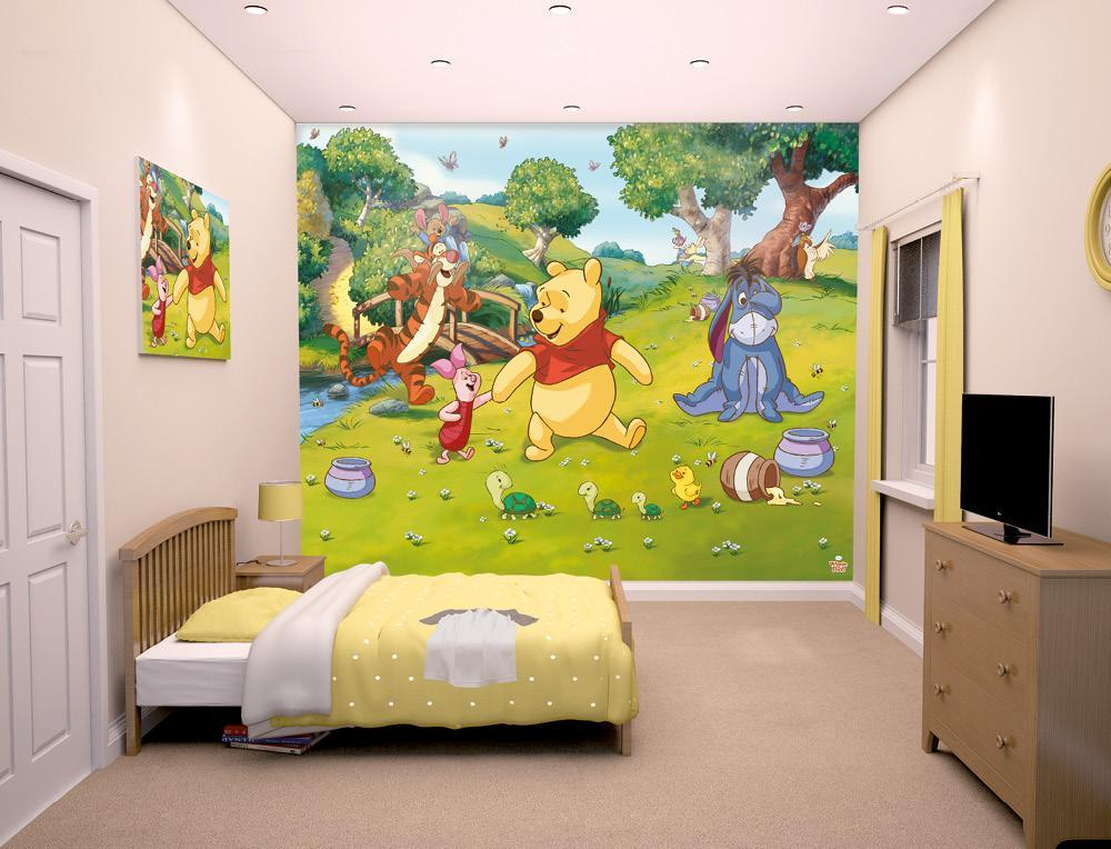 Image of Peter Plys tapet - Walltastic Disney 3D børnetapet 42100 (87-042100)